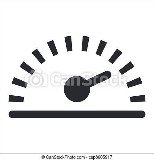 Vector illustration of single isolated speed icon - csp8605917