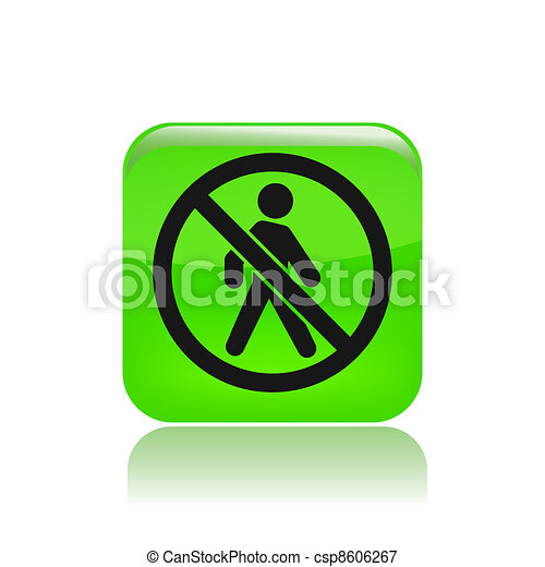 Vector illustration of single isolated forbidden access icon - csp8606267