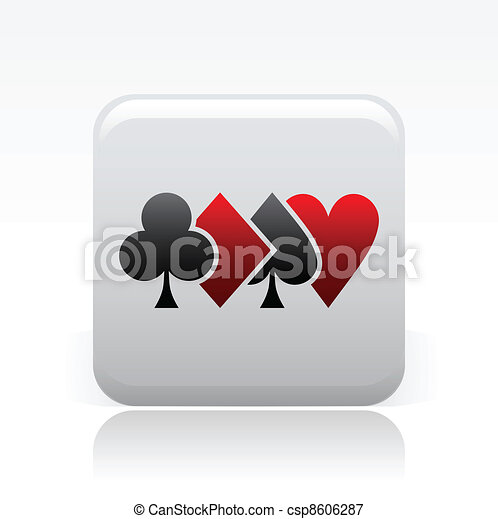 Vector illustration of single isolated poker icon - csp8606287