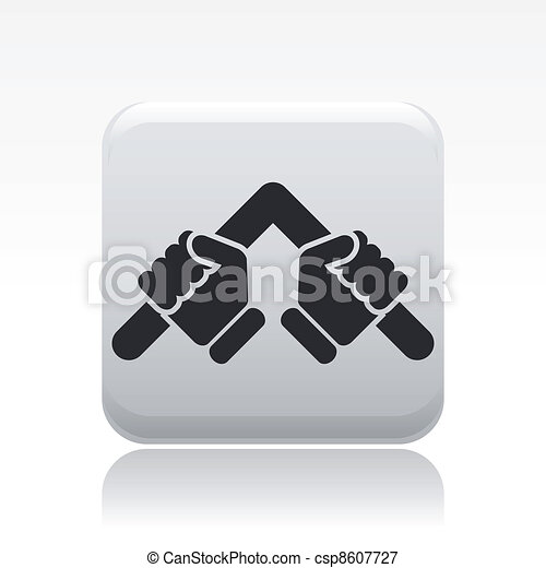 Vector illustration of single isolated bender icon - csp8607727