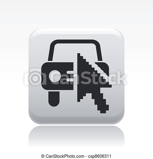 Vector illustration of single isolated web car icon - csp8606311