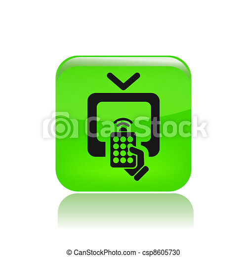 Vector illustration of single isolated tv remote icon - csp8605730