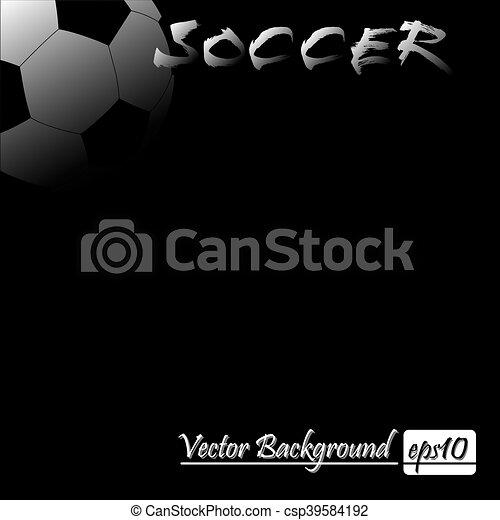 Vector illustration of soccer ball - csp39584192