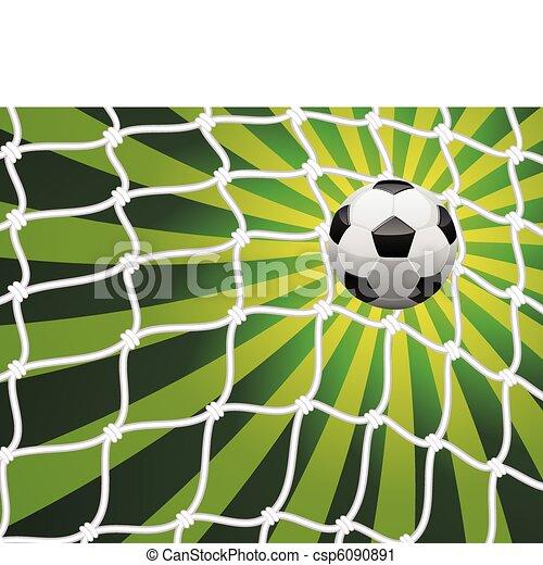 vector illustration of soccer ball - csp6090891