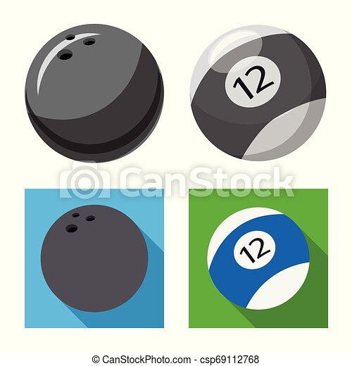 Vector illustration of sport and ball logo. Collection of sport and athletic stock symbol for web. - csp69112768