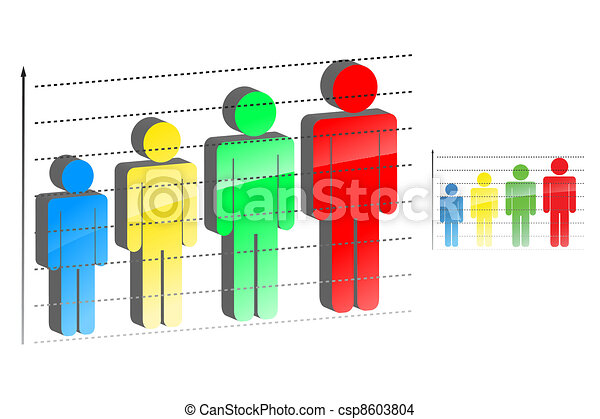 Vector illustration of statistical graph with increasing - csp8603804