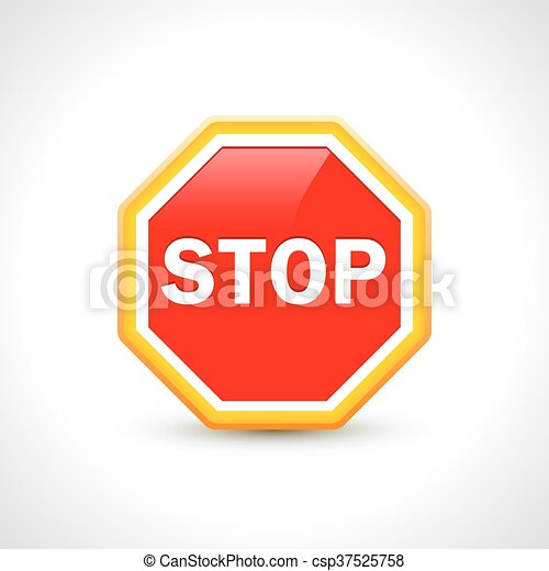 Vector illustration of stop sign vector design template.