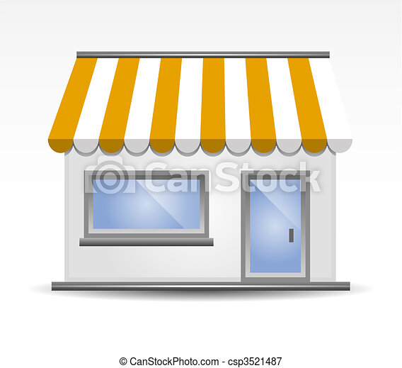vector illustration of Storefront A - csp3521487