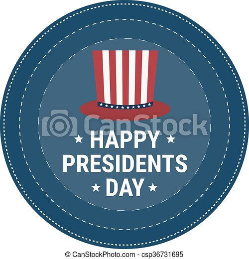 Vector illustration of stylish text for Happy Presidents Day. - csp36731695