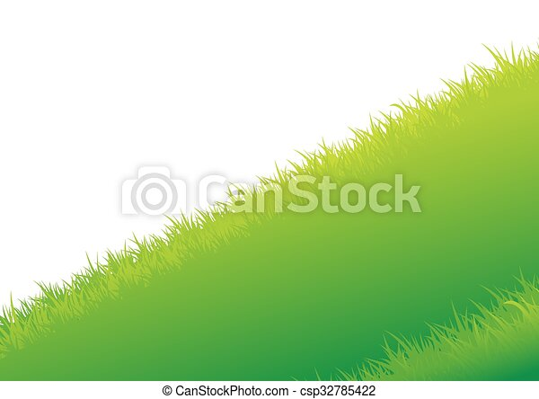 Vector illustration of Summer background with grass - csp32785422