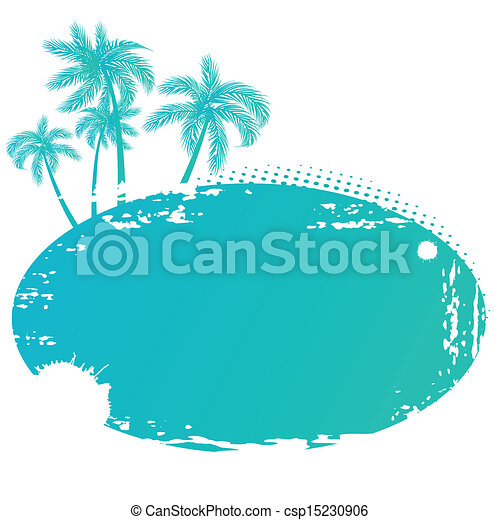 Vector illustration of Summer tropical banner - csp15230906