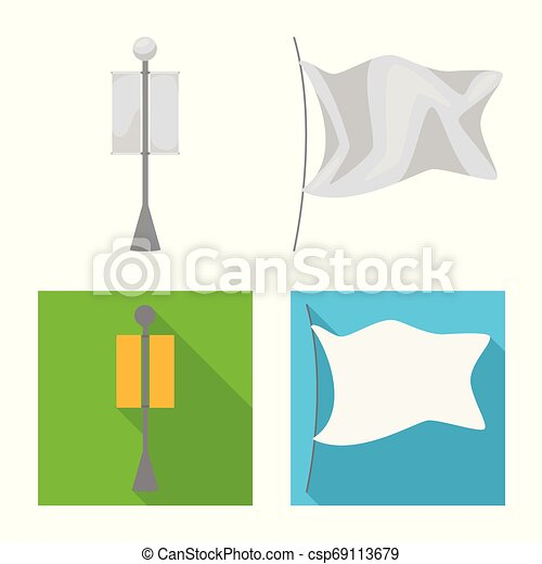 Vector illustration of texture and presentation symbol. Collection of texture and media vector icon for stock. - csp69113679