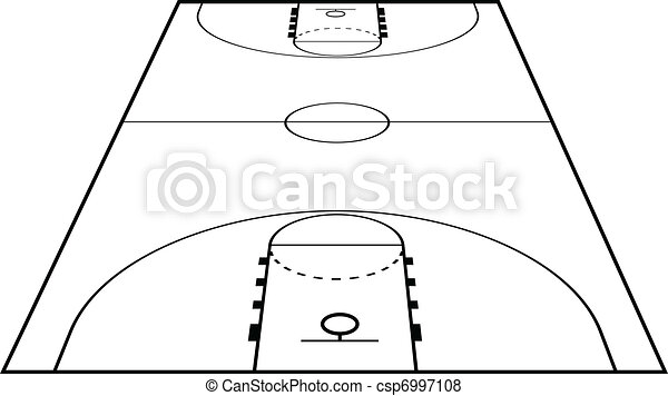 Vector Illustration of the Basketball Court - csp6997108