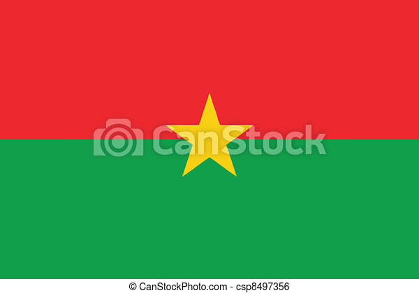 Vector illustration of the flag of  Burkina Faso - csp8497356