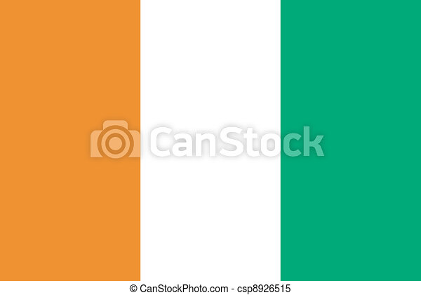 Vector illustration of the flag of Cote d Ivoire - csp8926515