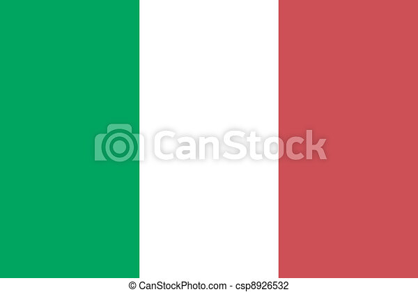 Vector illustration of the flag of Italy - csp8926532