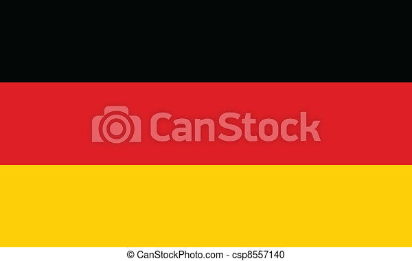 Vector illustration of the flag of Germany - csp8557140