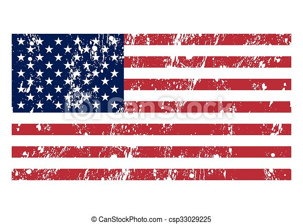 Vector illustration of the flag usa - csp33029225