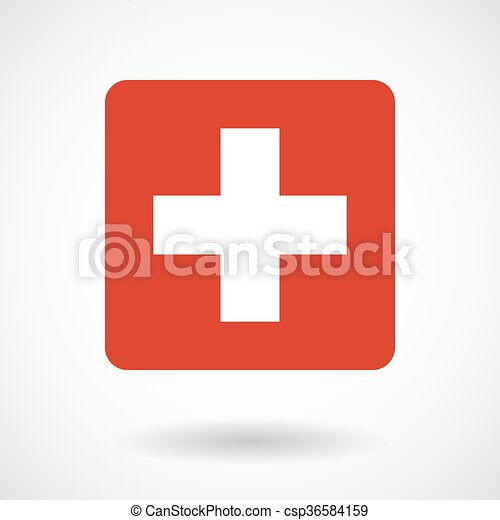 Vector illustration of the Swiss flag - csp36584159