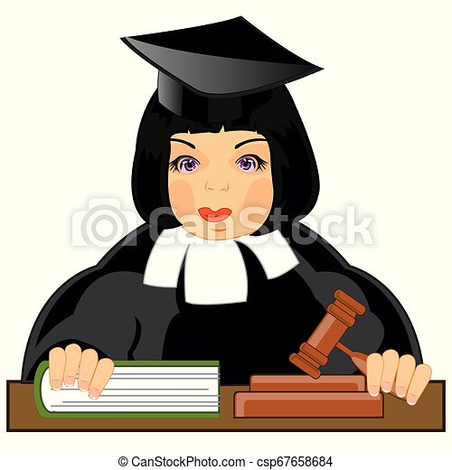 11 Judge Female Caucasian - Cartoon - Free Transparent PNG Clipart Images  Download