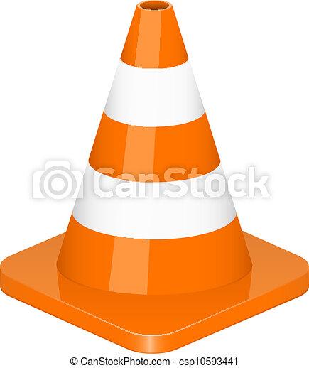 Vector illustration of traffic cone - csp10593441