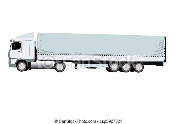 vector illustration of truck - csp5927321