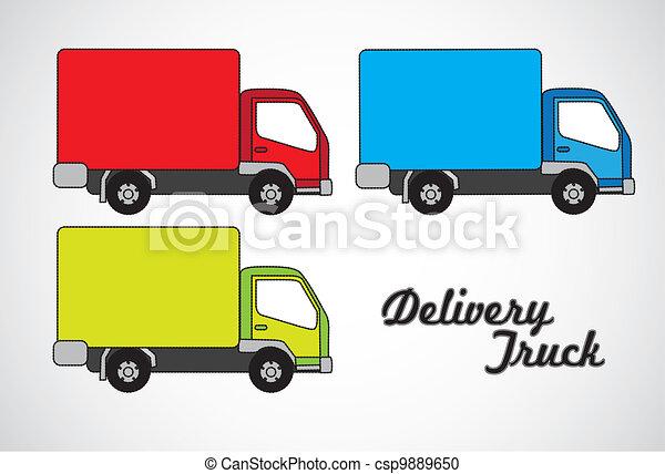 Vector illustration of truck - csp9889650