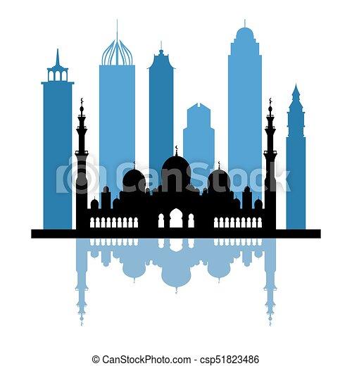 vector illustration of united arab emirates skyscrapers vector rh canstockphoto com skyscraper silhouette vector free skyscraper icon vector