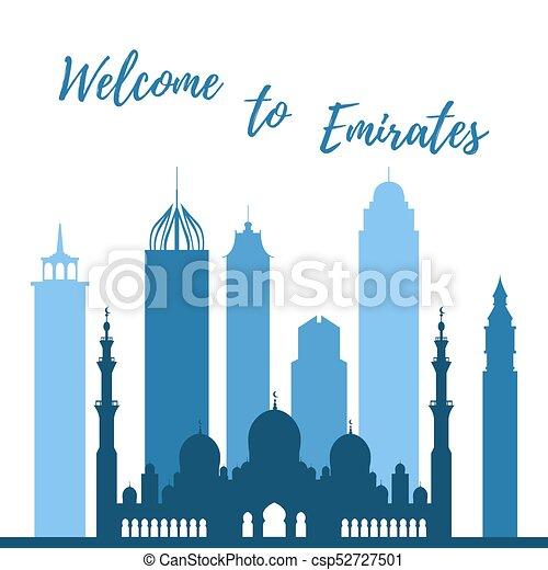 vector illustration of united arab emirates skyscrapers vector rh canstockphoto com skyscraper line vector skyscraper vector free download