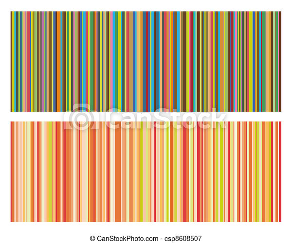 Vector illustration of vintage colored strips background - csp8608507