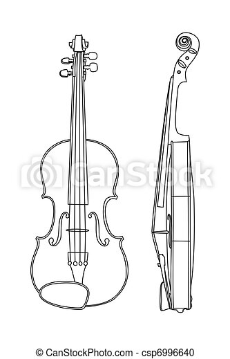 Vector illustration of violin - csp6996640