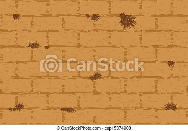 Vector illustration of wailing wall - csp15374903