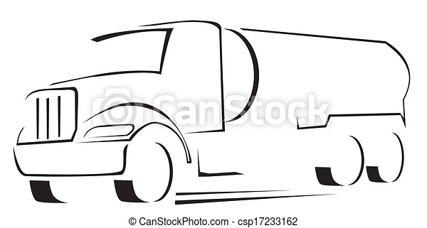 vector illustration of water truck clip art vector - search drawings
