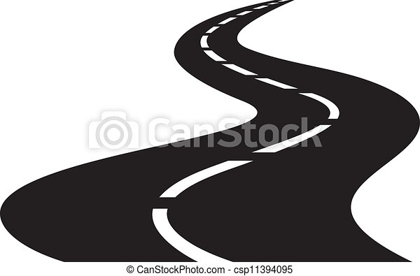 vector Illustration of winding road - csp11394095