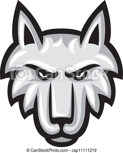 Vector illustration of wolf face - csp11111219