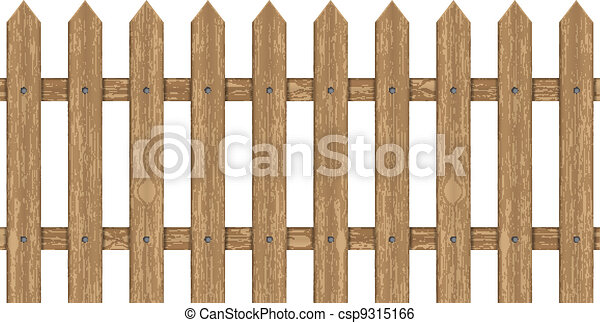 Wood Fence Drawing To Vector Illustration Of Wooden Fence Illustration Of Wooden Fence