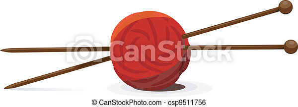 vector illustration of wool ball and clip art vector csp9511756