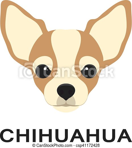 vector illustration og chihuahua dog in flat style chihuahua flat icon dog paw clip art outline dog paw clip art svg