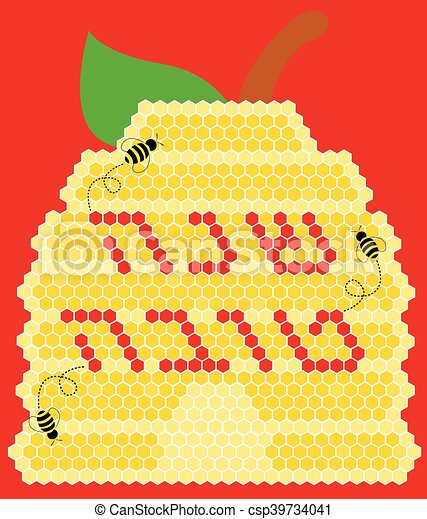 vector illustration rosh hashana greeting card