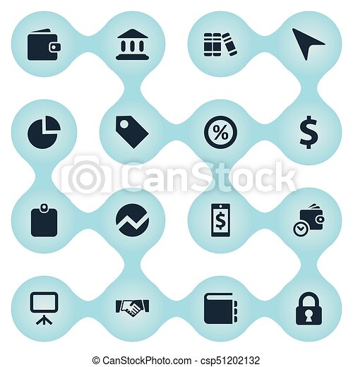 Vector Illustration Set Of Simple Financial Icons Elements