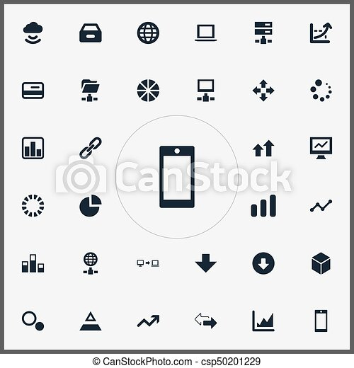 Vector Illustration Set Of Simple Information Icons Elements