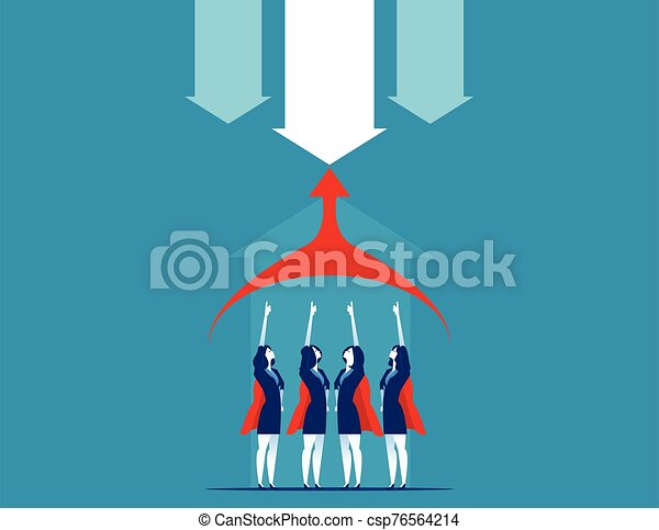 vector, illustration., team., superbusiness, concepto, empresa / negocio - csp76564214