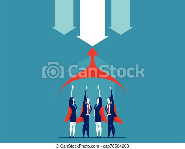 vector, illustration., team., superbusiness, concepto, empresa / negocio - csp76564203
