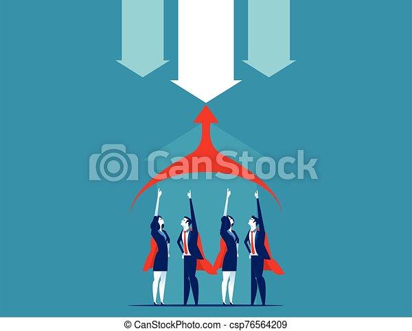 vector, illustration., team., superbusiness, concepto, empresa / negocio - csp76564209