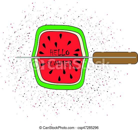 vector illustration watermelon - csp47285296