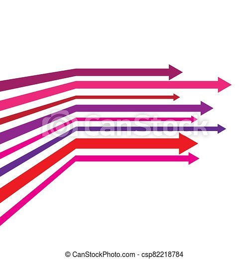 vector illustration with colored arrows on white background - csp82218784