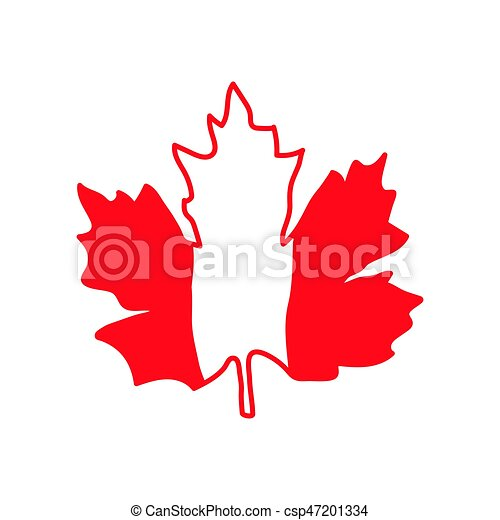 Vector Illustration With Maple Leaf Canada Symbol Vector