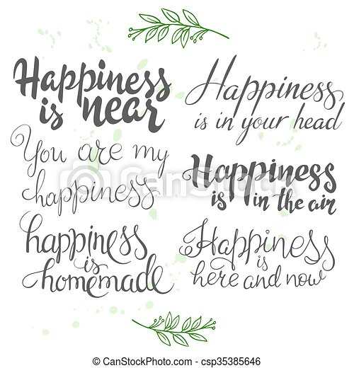 Vector Illustration With Set Of Hand Lettering Inspiration Quotes