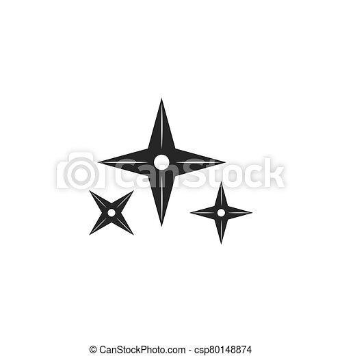 vector, ilustración, arma, icono, ninja - csp80148874