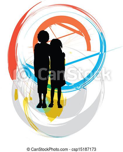 Amigos. Ilustración de vectores - csp15187173